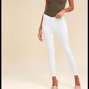 NWT Free people white jeggings